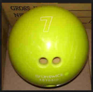 brunswick 7 tenpin house ball
